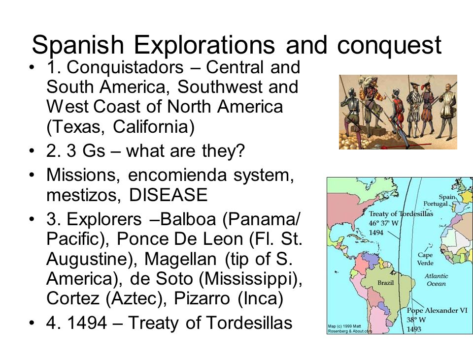 Spanish Explorations and conquest