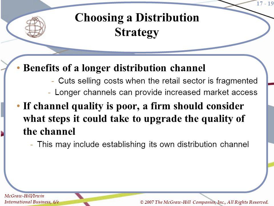 Choosing a Distribution Strategy