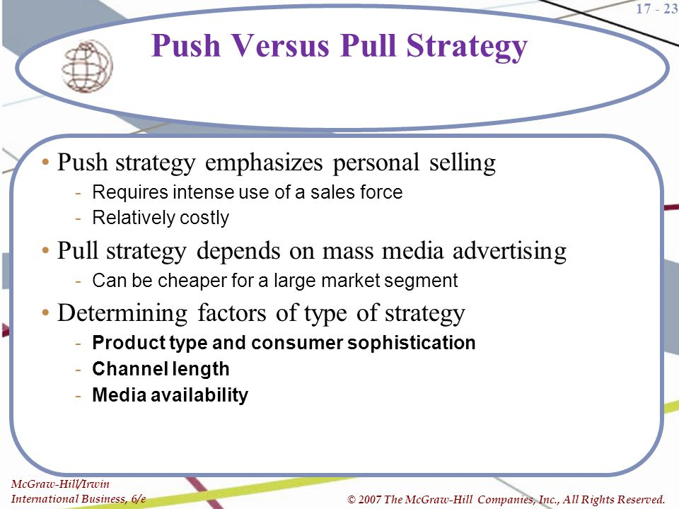 Push Versus Pull Strategy