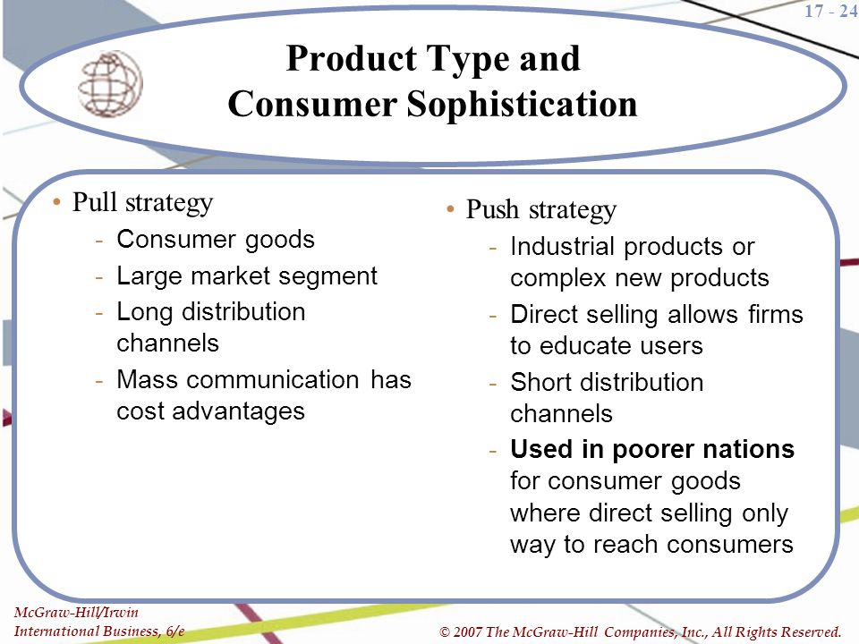 Product Type and Consumer Sophistication