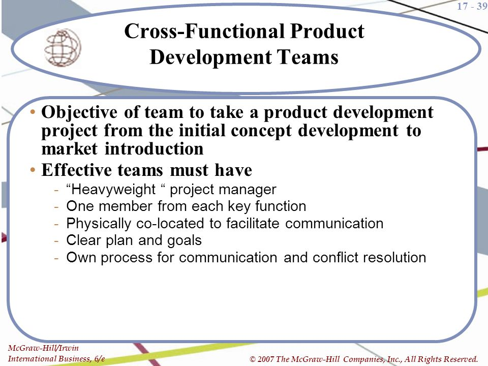 Cross-Functional Product Development Teams
