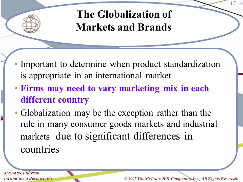The Globalization of Markets and Brands