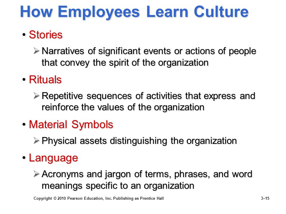 How Employees Learn Culture