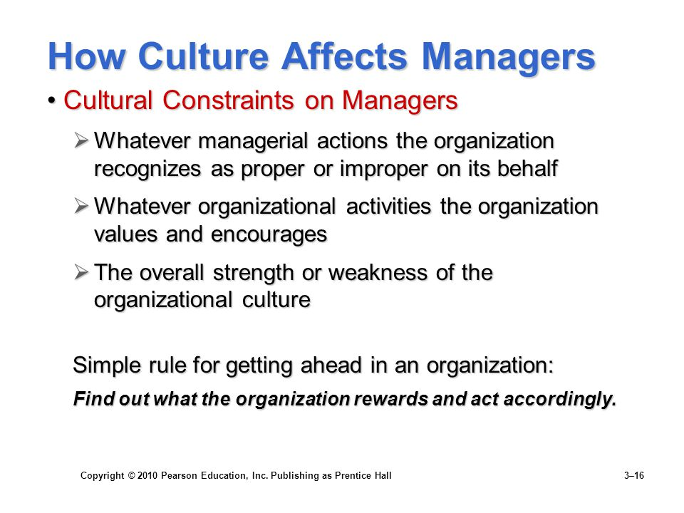 How Culture Affects Managers