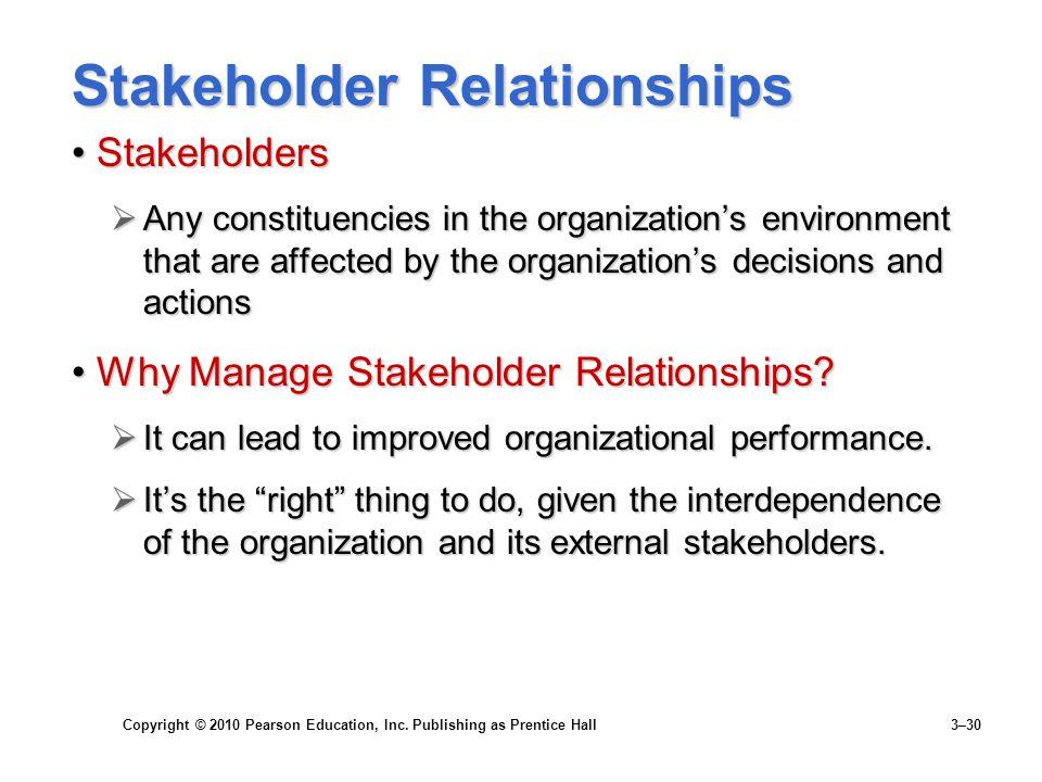Stakeholder Relationships