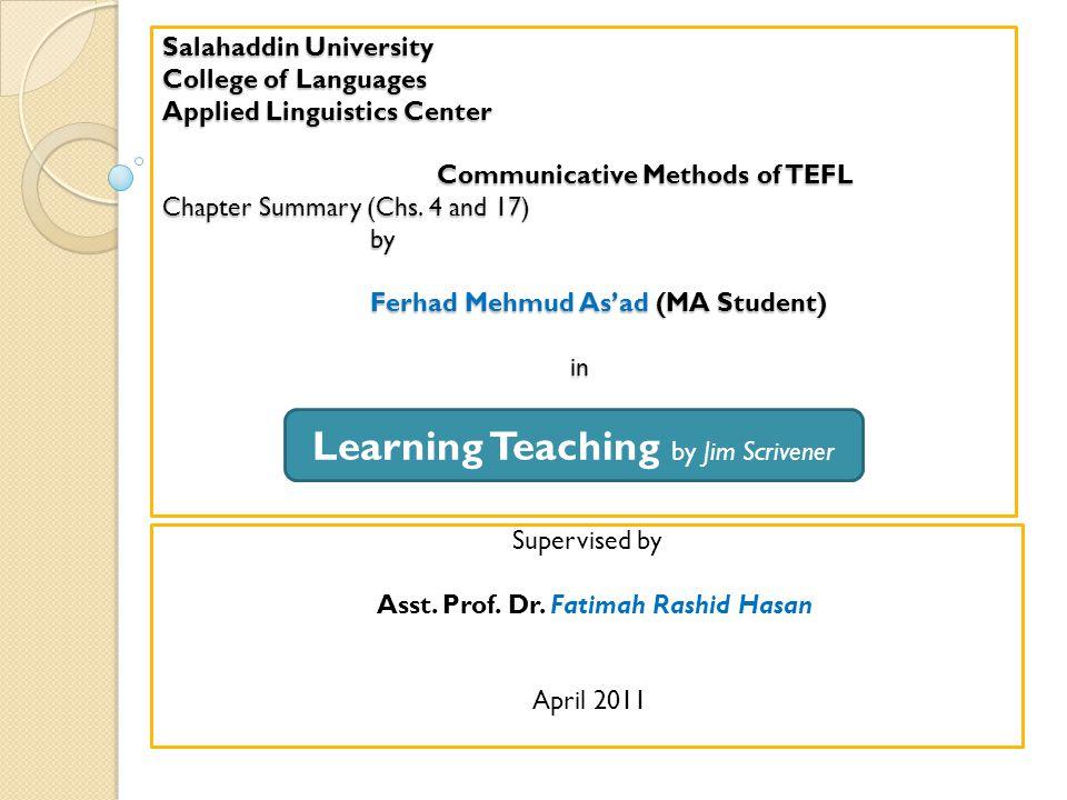 Learning Teaching by Jim Scrivener