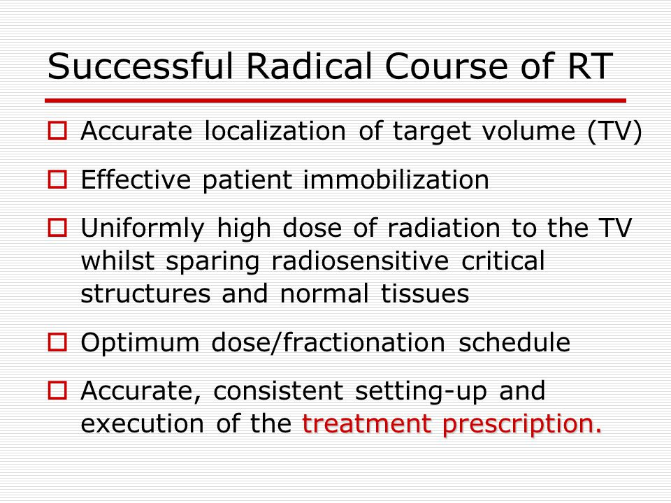 Successful Radical Course of RT