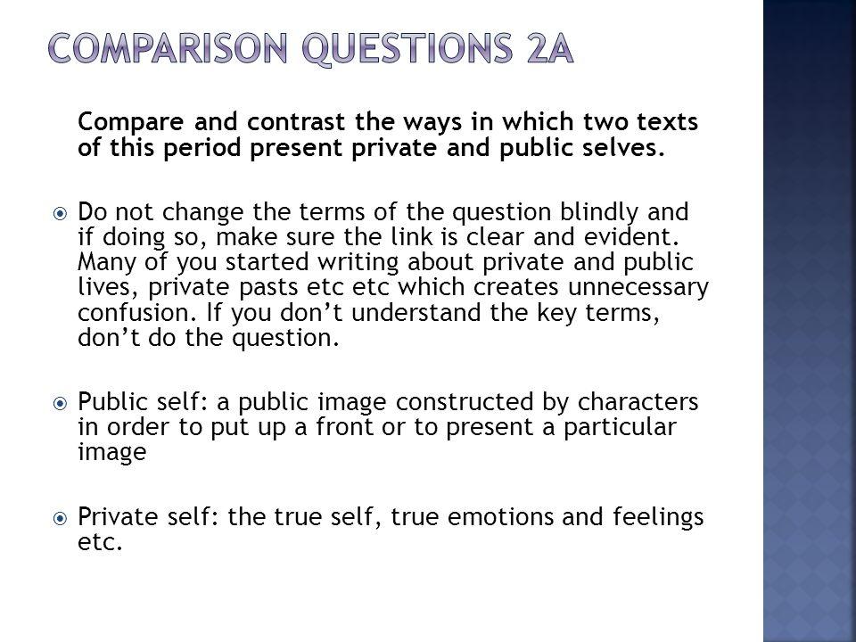 Comparison Questions 2a