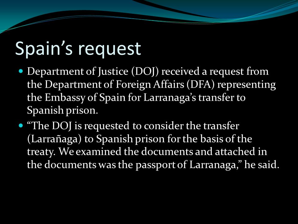 Spain's request
