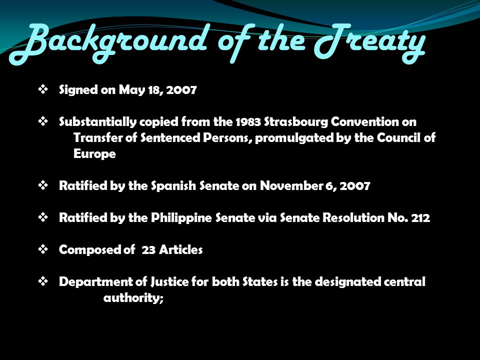 Background of the Treaty