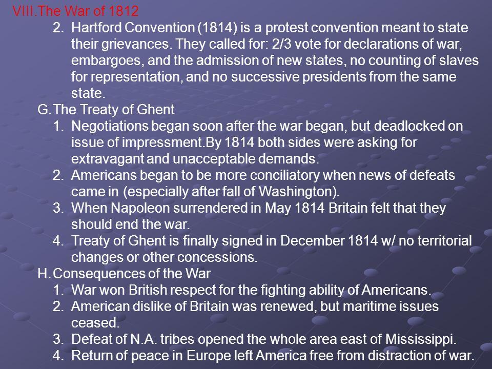 VIII. The War of 1812