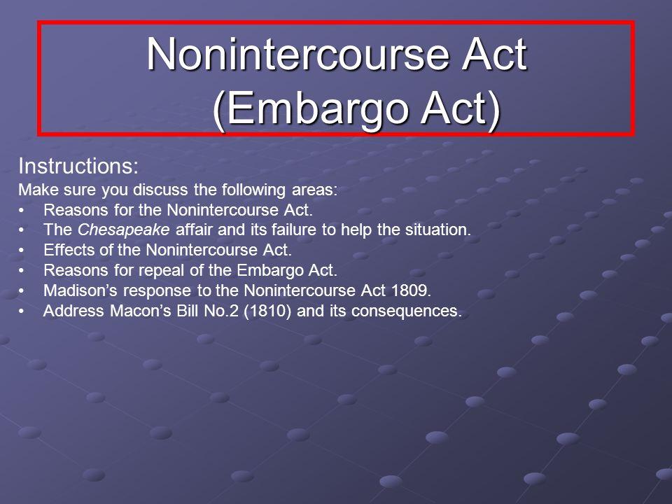 Nonintercourse Act (Embargo Act)