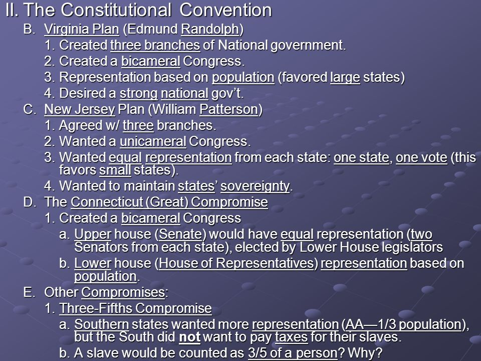 II. The Constitutional Convention