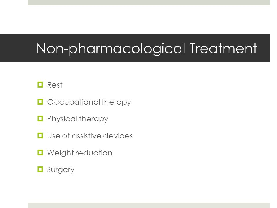 Non-pharmacological Treatment