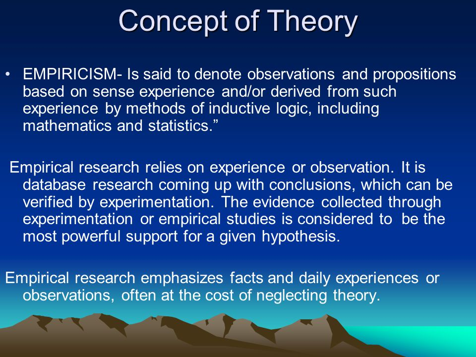 Concept of Theory