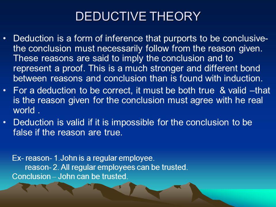 DEDUCTIVE THEORY