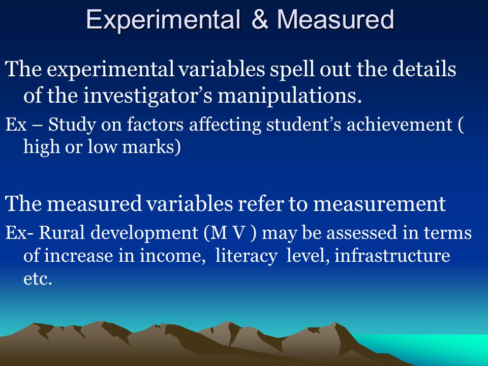 Experimental & Measured