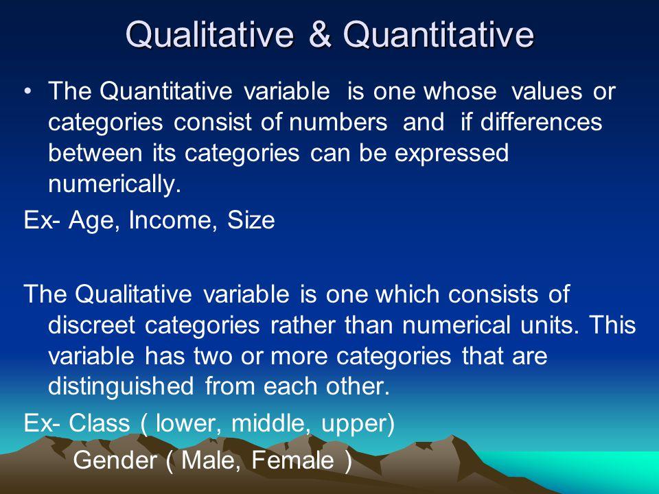 Qualitative & Quantitative