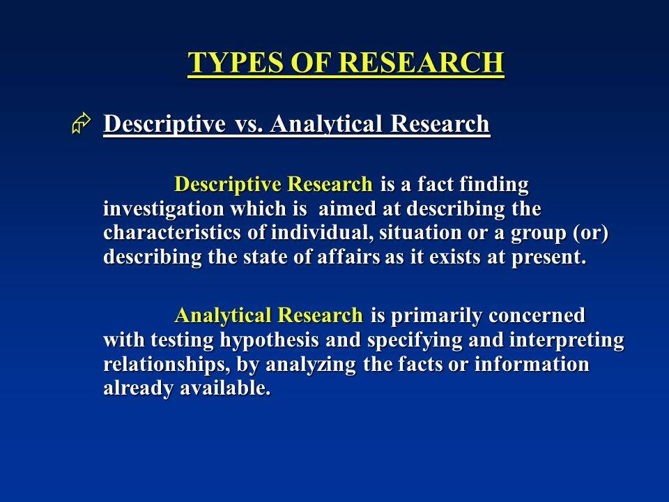 Content: Exploratory Research Vs Descriptive Research