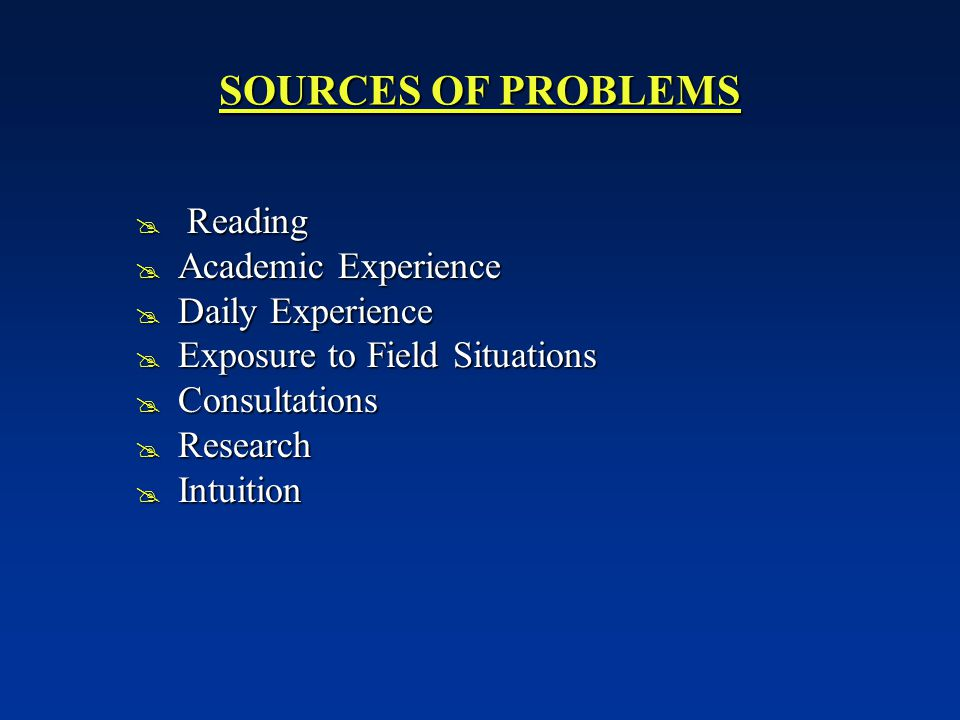 sources of research problem pdf