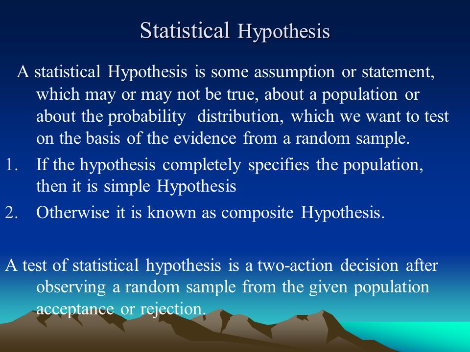 Statistical Hypothesis