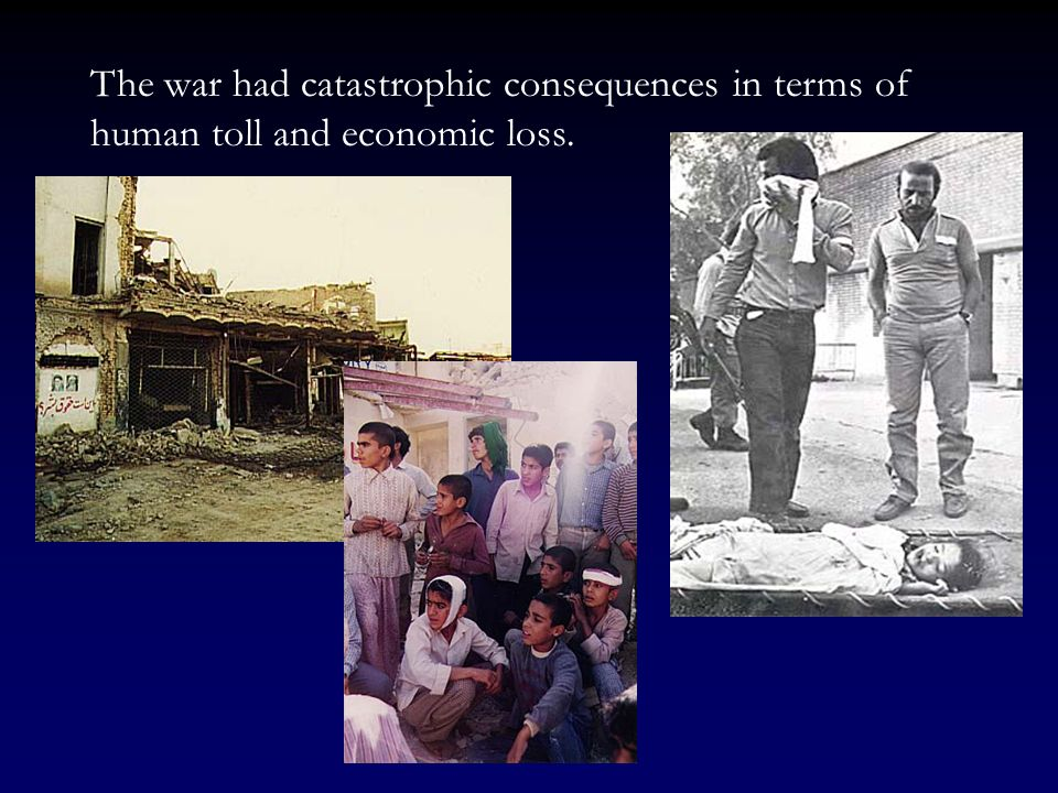 The war had catastrophic consequences in terms of human toll and economic loss.