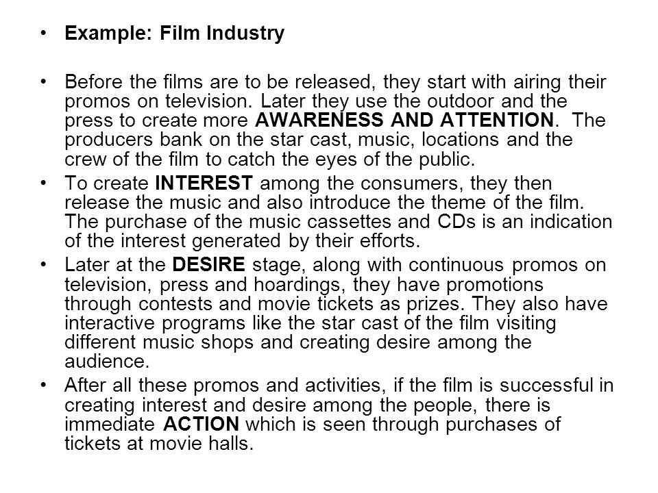 Example: Film Industry