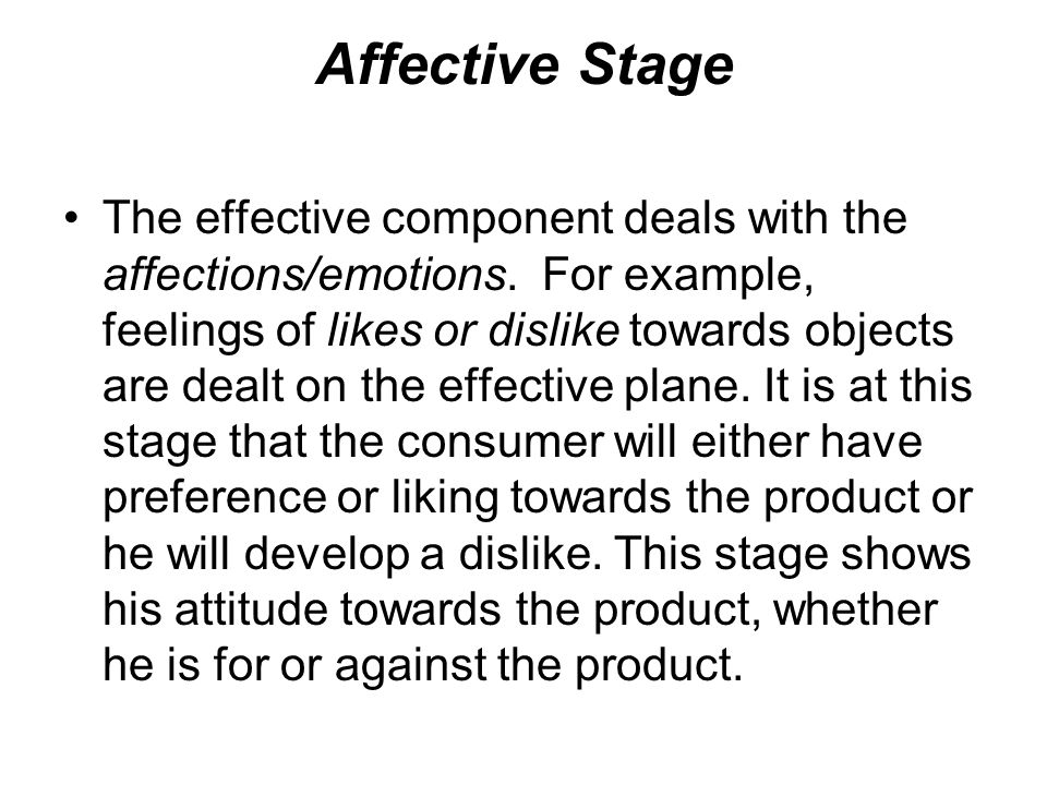 Affective Stage