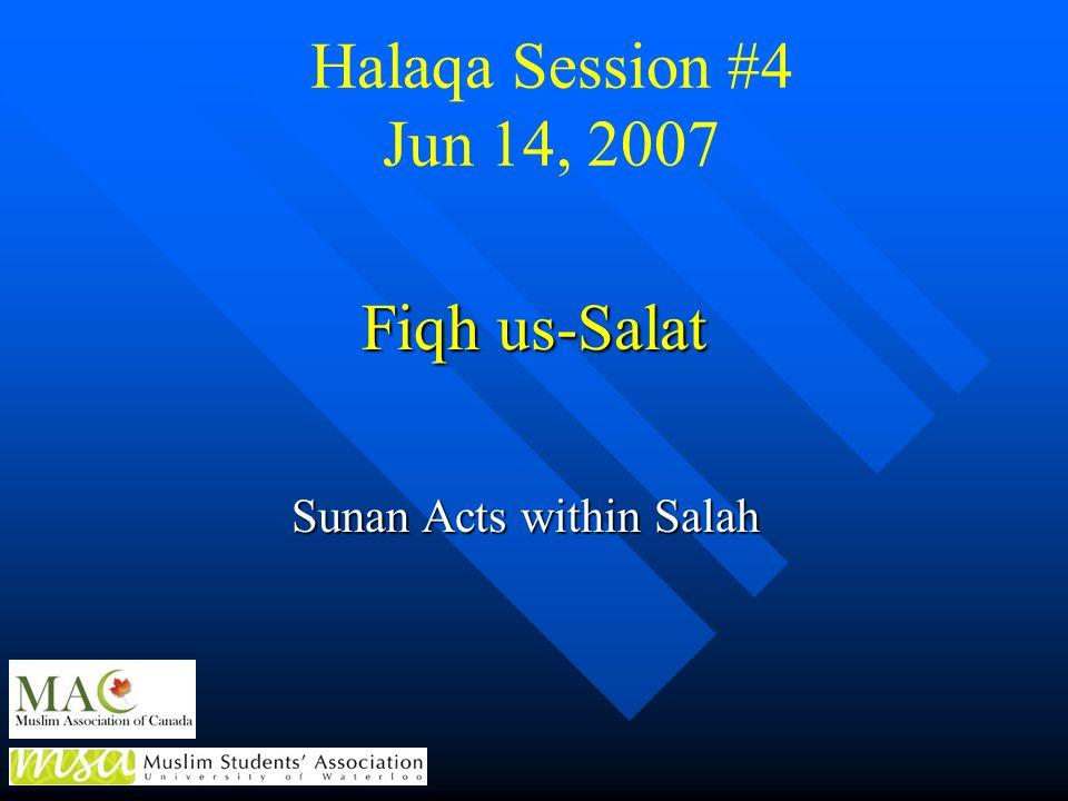 Sunan Acts within Salah