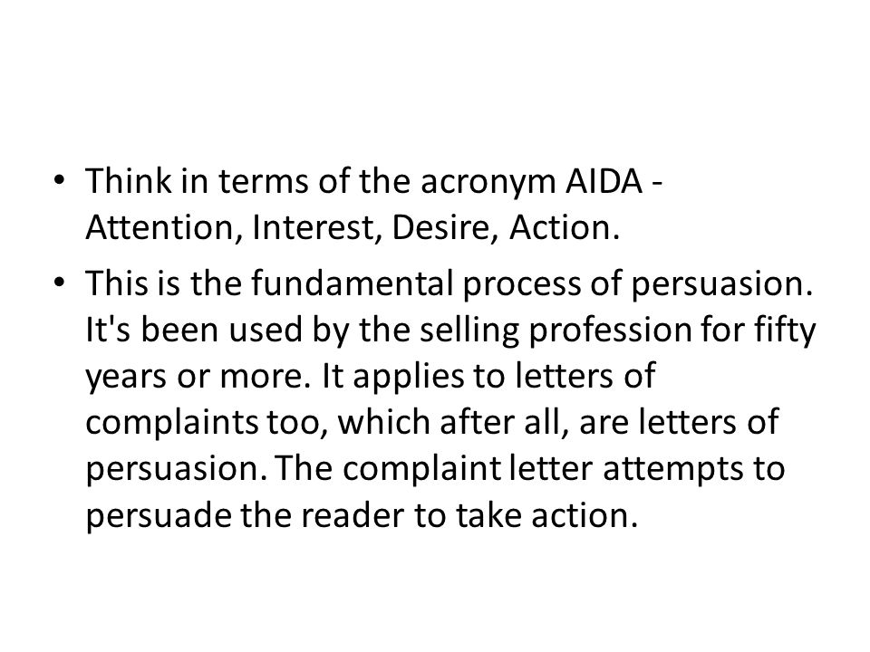 Think in terms of the acronym AIDA - Attention, Interest, Desire, Action.