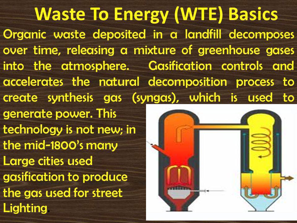 Waste To Energy (WTE) Basics