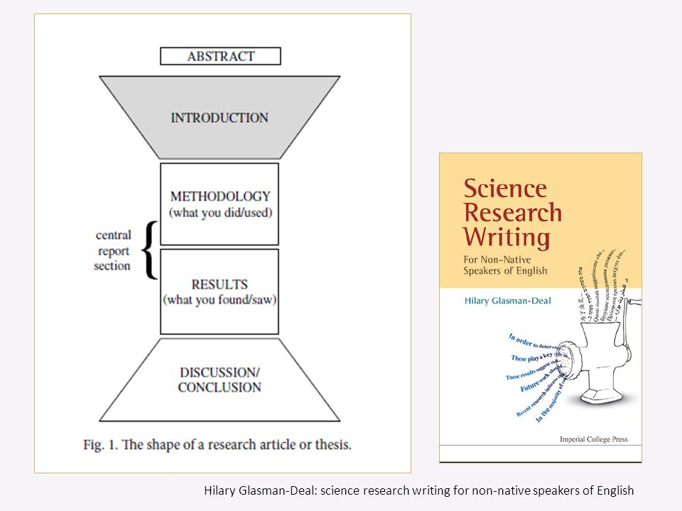 Hilary Glasman-Deal: science research writing for non-native speakers of English