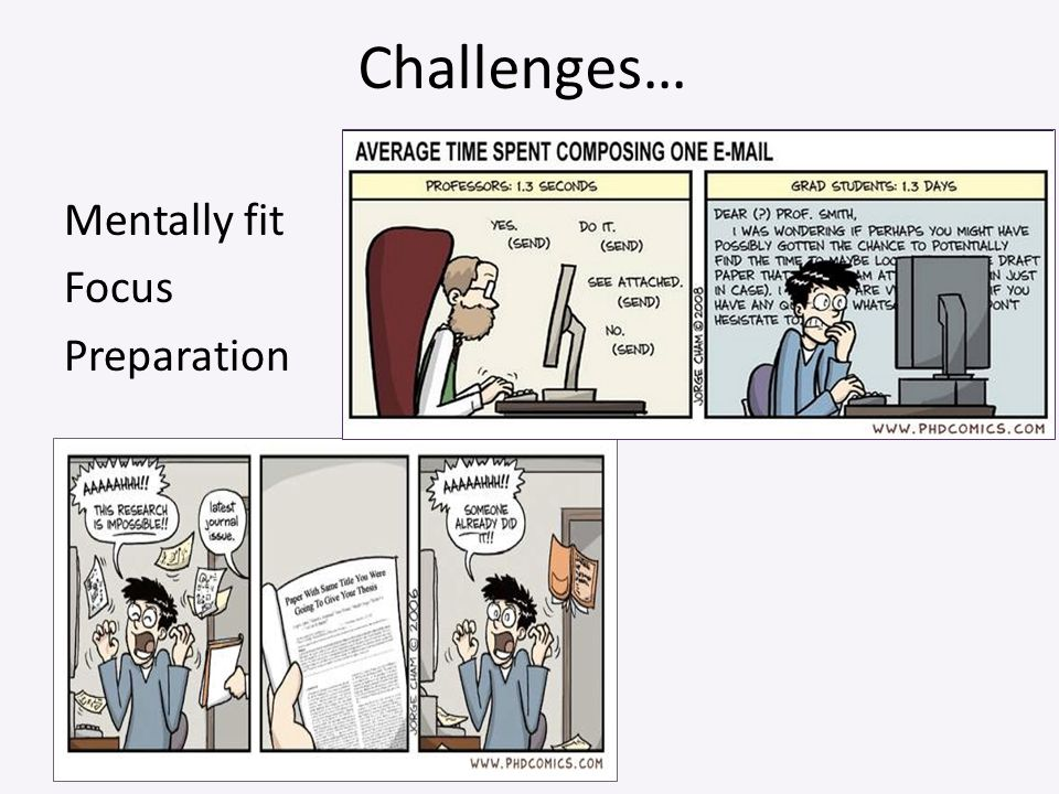 Challenges… Mentally fit Focus Preparation