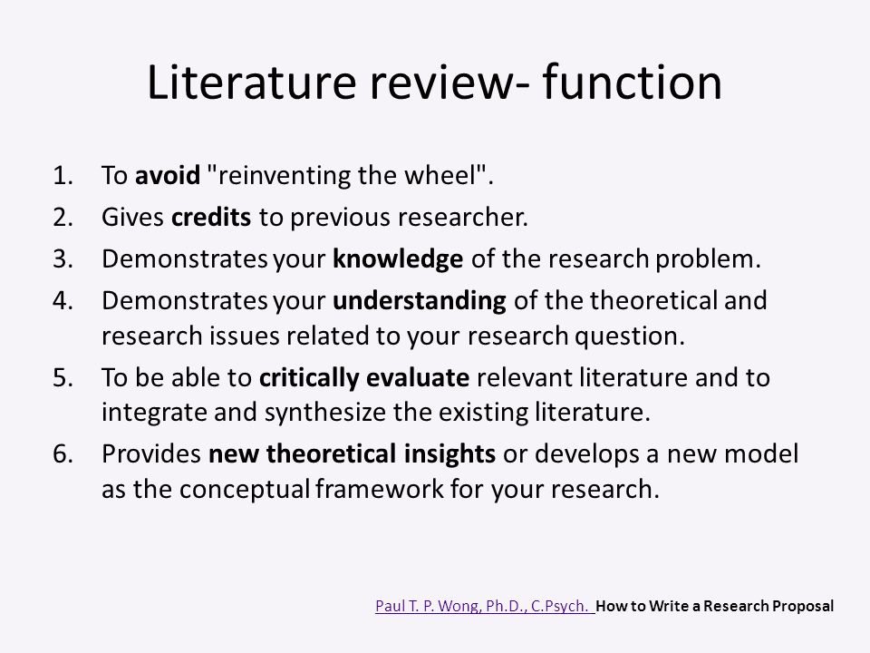 Literature review- function