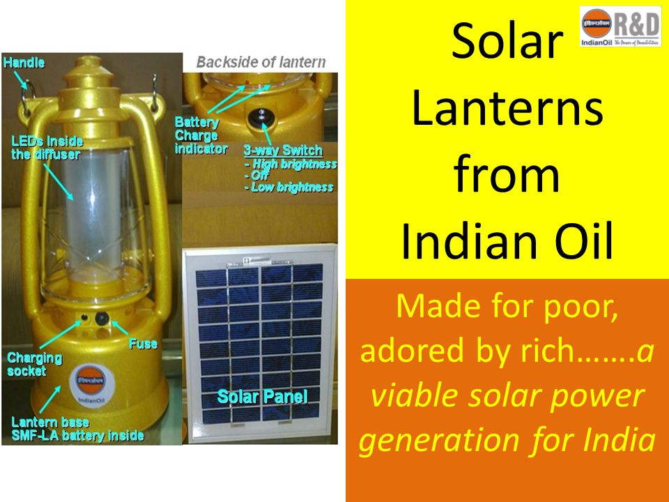 Solar Lanterns from Indian Oil