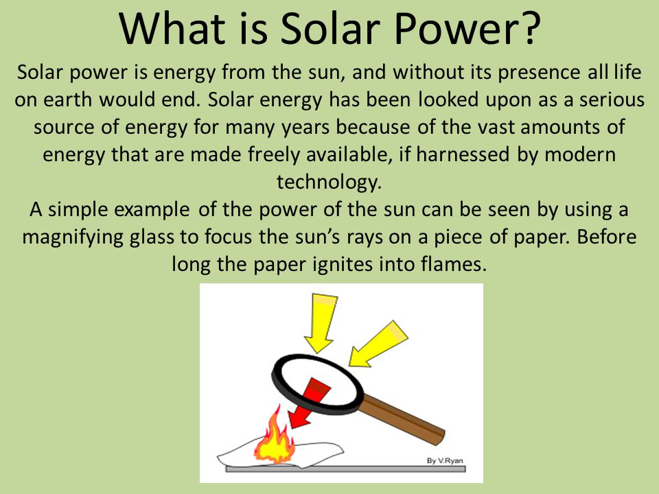 What is Solar Power.