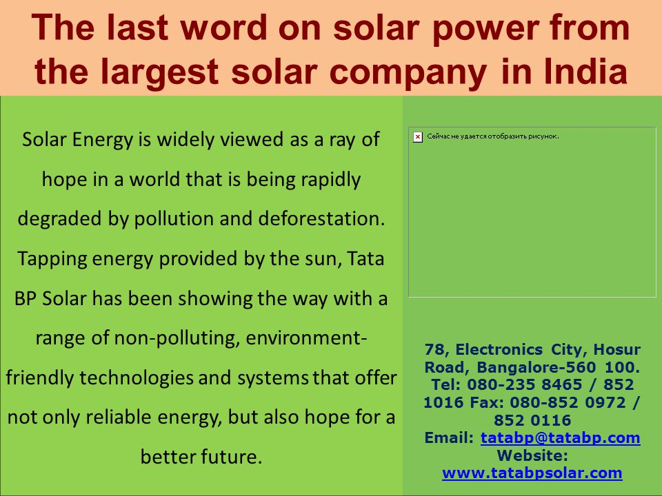 The last word on solar power from the largest solar company in India