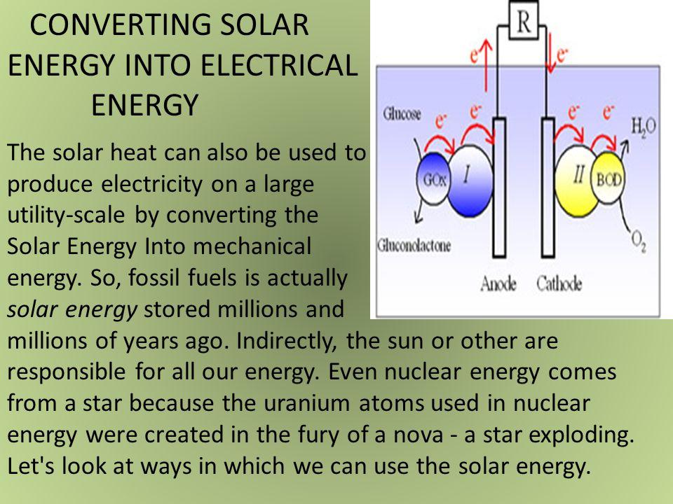 ENERGY INTO ELECTRICAL ENERGY