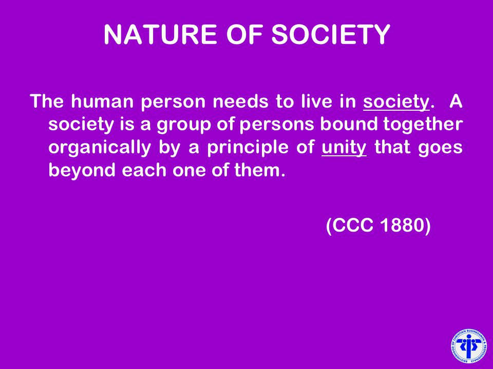 NATURE OF SOCIETY