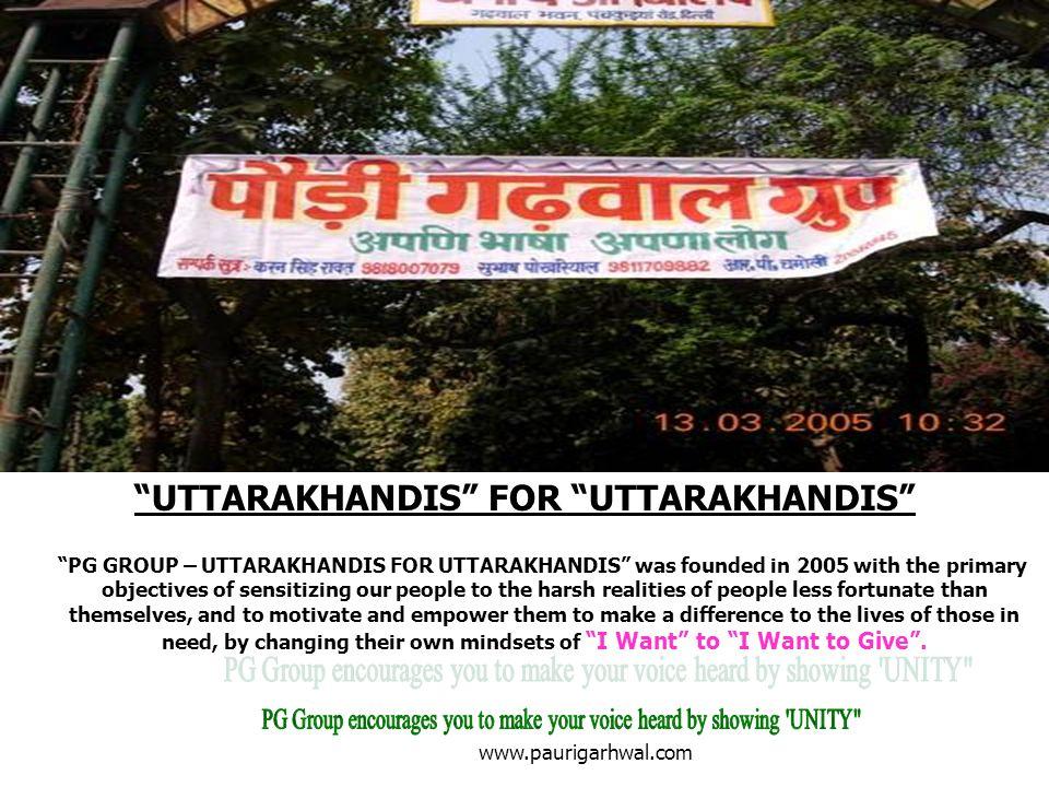 UTTARAKHANDIS FOR UTTARAKHANDIS