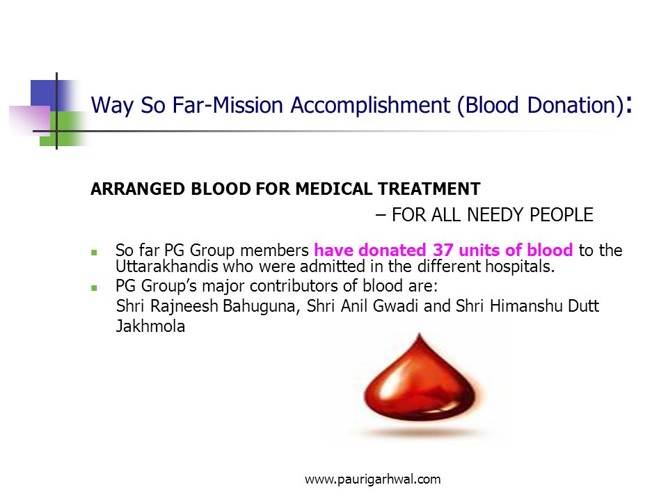Way So Far-Mission Accomplishment (Blood Donation):