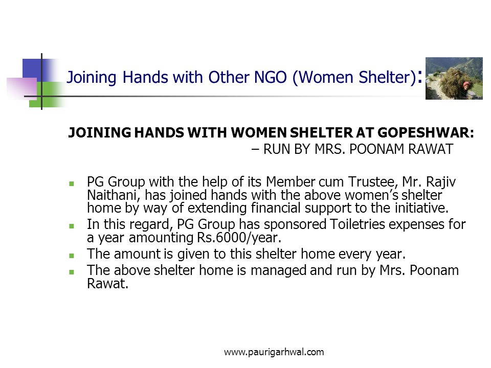Joining Hands with Other NGO (Women Shelter):