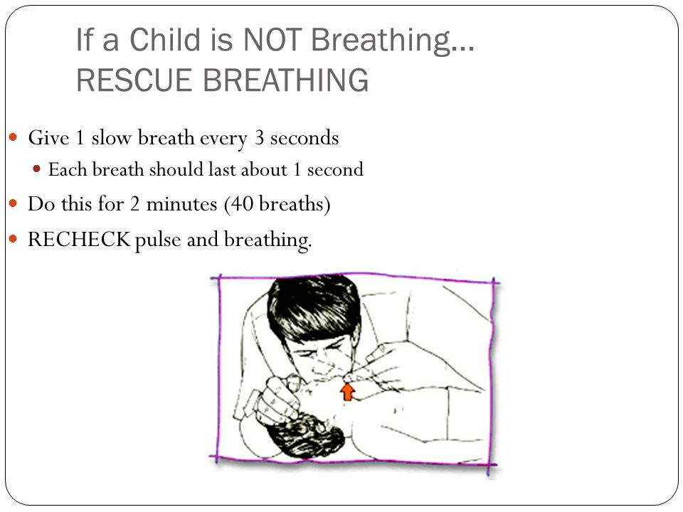 If a Child is NOT Breathing… RESCUE BREATHING