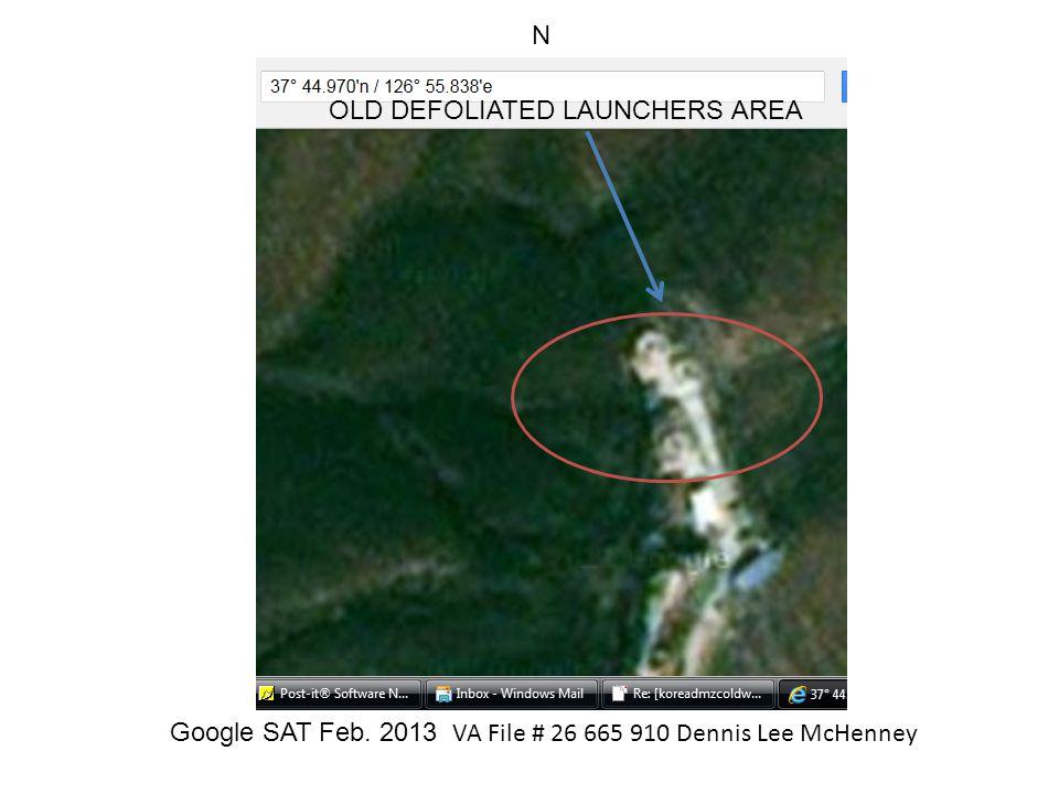 Google SAT Feb. 2013 VA File # 26 665 910 Dennis Lee McHenney
