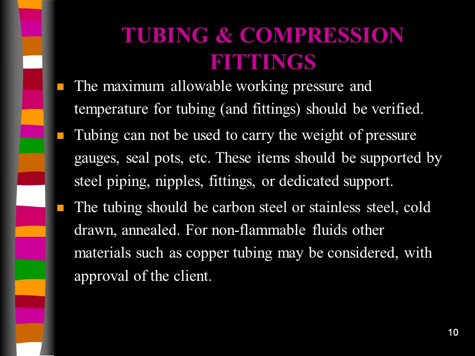 TUBING & COMPRESSION FITTINGS
