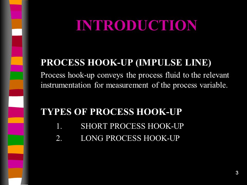INTRODUCTION PROCESS HOOK-UP (IMPULSE LINE) TYPES OF PROCESS HOOK-UP