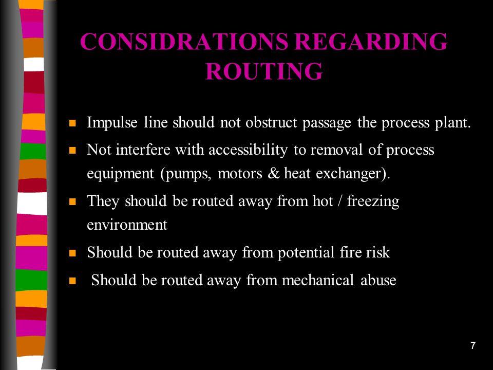 CONSIDRATIONS REGARDING ROUTING