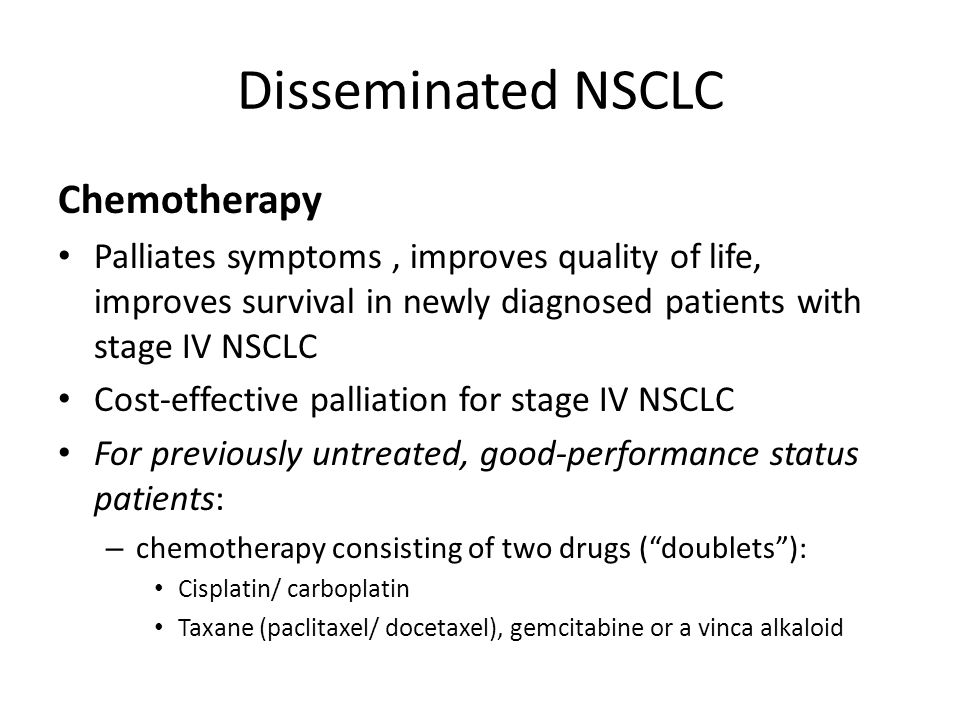 Disseminated NSCLC Chemotherapy