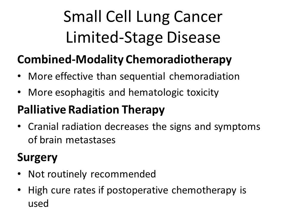Small Cell Lung Cancer Limited-Stage Disease
