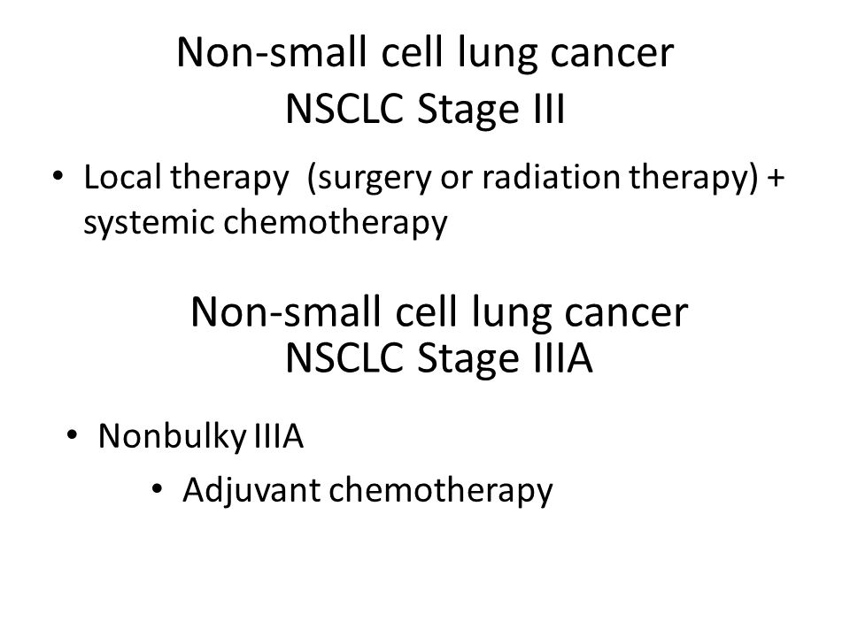 Non-small cell lung cancer NSCLC Stage III